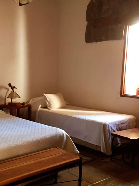 Single rooms of the Hotel Killa of Cafayate en Salta, Argentina