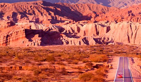 Landscapes of the Hotel Killa of Cafayate in Salta, Argentina