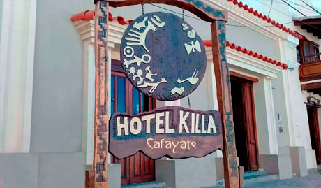 Entrance to Hotel Killa of Cafayate in Salta, Argentina
